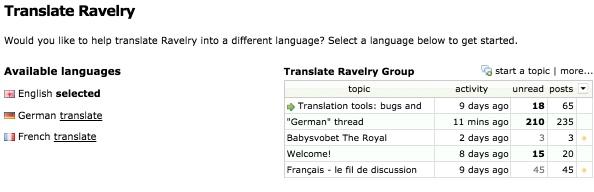 Tip: Ravelry auf Deutsch & en français