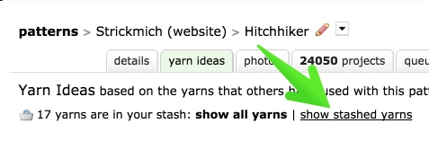 stashed yarns link