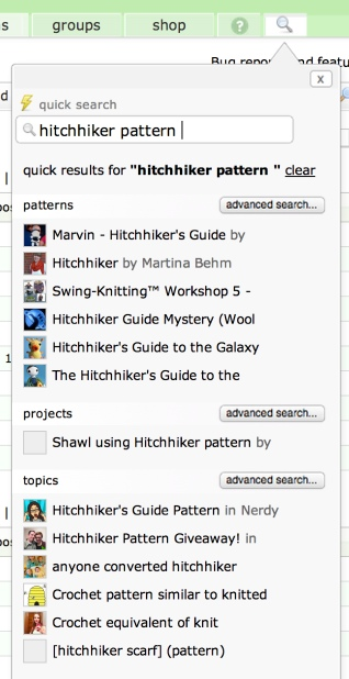 hitchhiker pattern quick search
