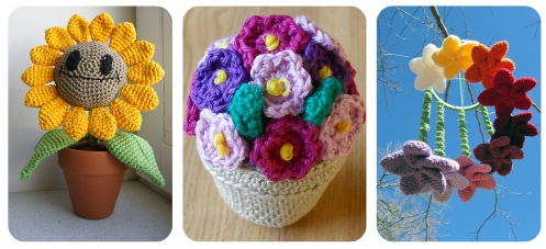 crocheted plant flowers