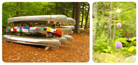 yarn bombs at Squam