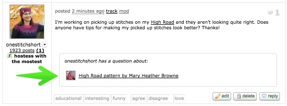 forums post onestitchshort has a question